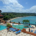 View of Sosua beach from the resort