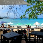 Gorgeous view of Sosua beach from a bar